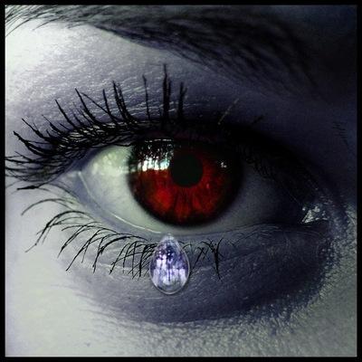 как сделать красные глаза видео