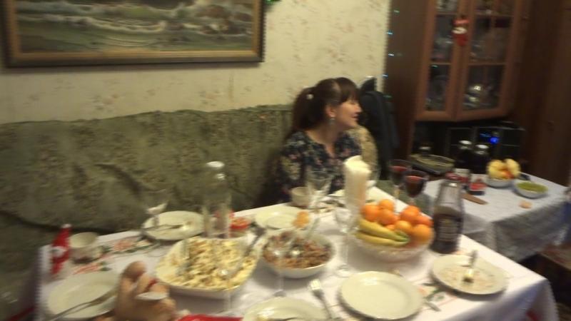Новый год 2018 Саша Наташа с сыном Катя с Сережей и Мишей