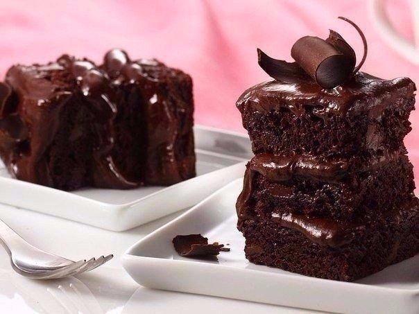 Быстрый пирог на кефире с шоколадом