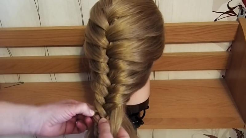 Необычный способ. Как заплести косу. How to braid a beautiful braid Kapralova Olga