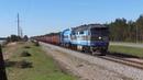 Тепловозы ТЭП70-0236 и ТЭМ7-0234 с грузовым поездом / TEP70-0236 and TEM7-0234 with a freight train