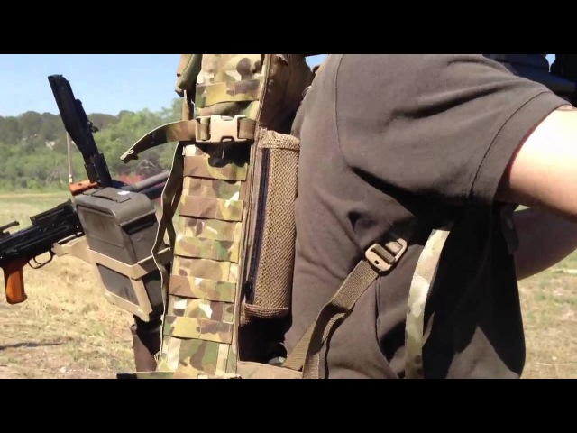 M249 SAW 800 round backpack feed