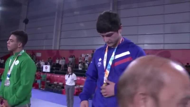 Ахмедхан Темботов - чемпион юношеских Олимпийских Игр по вольной борьбе (80 кг) в Буэнос-Айресе