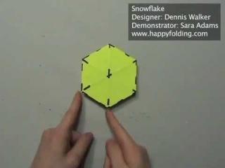 Снежинка оригами.mp4
