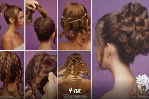 Причёски на средние волосы своими руками на свадьбу