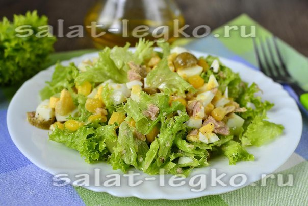 Постный салат с тунцом рецепт с
