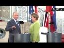Заговорила на великом и могучем Путину выкрикнули вопрос про визит в Австрию