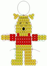 Схемы Маши из мультикаМаша и медведь. новичкам. брелок плетение параллельное Схемы животное медведь Источник.