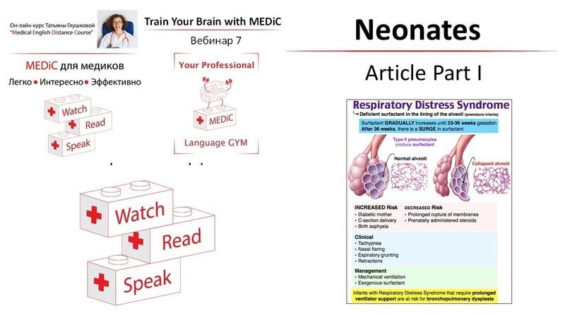 Medical English Респираторный дистресс-синдром у новорожденных Часть 1