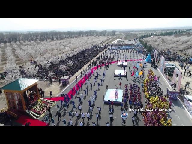 Наврӯзӣ дар боғи Ваҳдати ноҳияи Бобоҷон Ғафуров