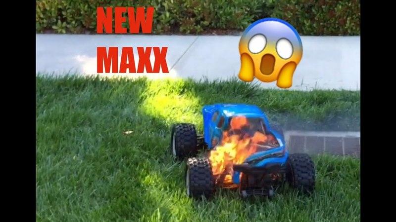 TRAXXAS X-MAXX 8s CAUGHT ON FIRE!!