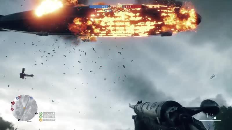 падение дирижабля Battlefield 1 ™