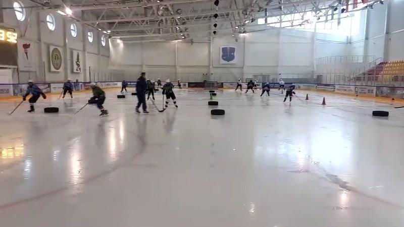 Красная Звезда 2005 06 на предсезонке в Шклове Первый выход на лёд