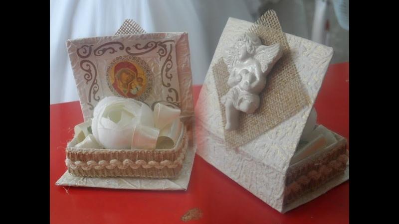 Коробка таросик для крещения.N 2 Knunqi tarosiki patrastum.Christening favor.