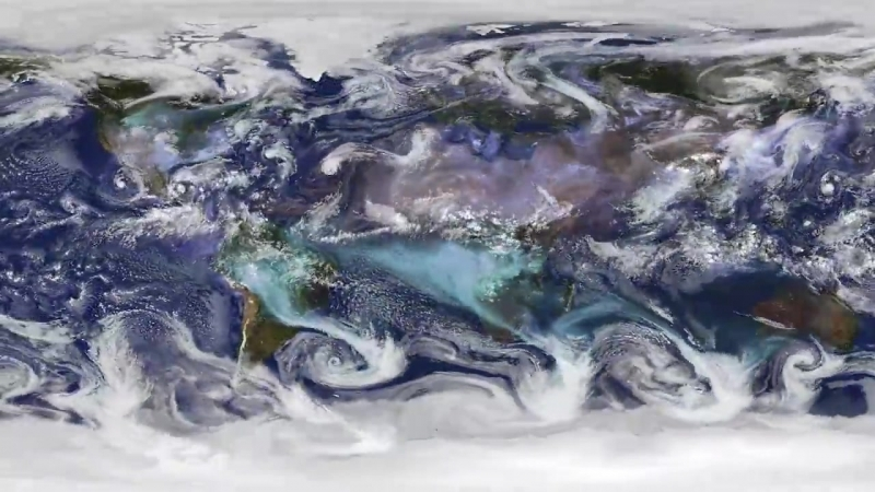 Rare Electric Blue Clouds Observed by NASA Balloon
