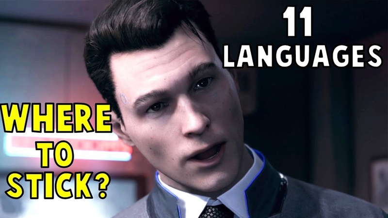 Hank Tells Connor Where To Stick his Instructions in 11 Languages - Detroit Become Human