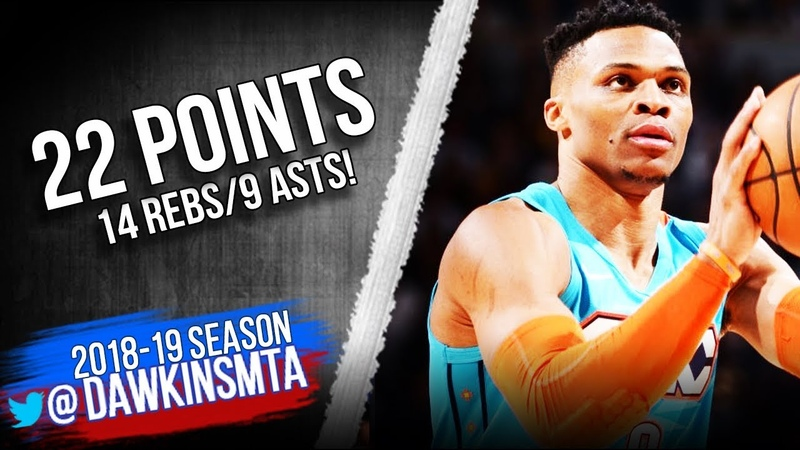 Russell Westbrook Full Highlights 2019 02 26 vs Nuggets 22 Pts 14 Rebs 9 Asts FreeDawkins