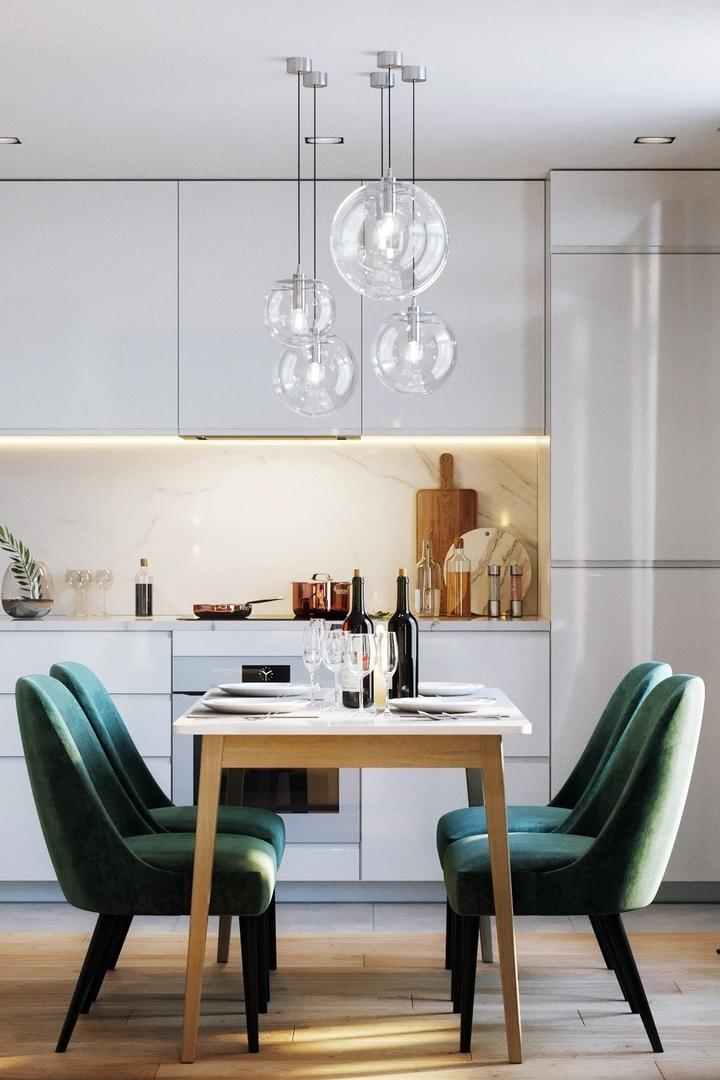 Проект кухни-гостиной в Брюсселе, 22 кв.