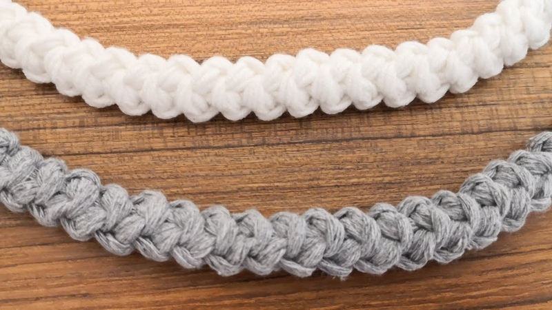 Tığ işi Anglez Çanta Sapı Yapımı / Crochet Handles for Bags