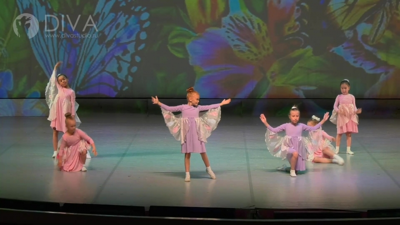 Kids dance (детские танцы), дети 7-9 лет, Бабочки, руководитель Любовь Якшова