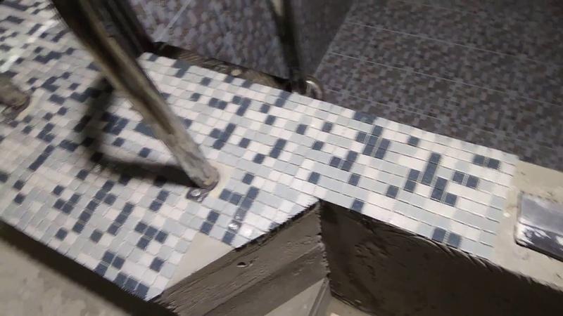 Бассейн часть 13 (укладка мозаики).