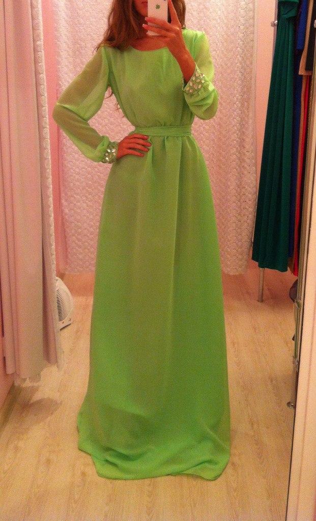 Сшить платье с рукавами в пол своими