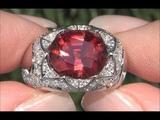 GIA Certified 7.88 ct Natural Pink Tourmaline &amp Diamond 14k White Gold Estate Engagement Ring C970