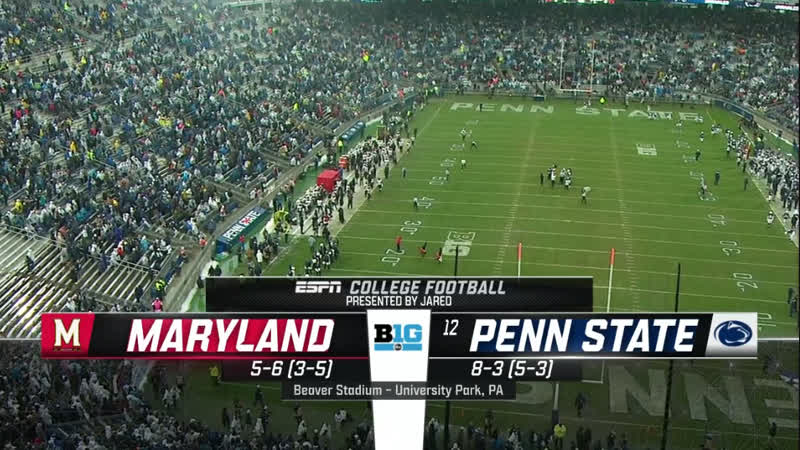NCAAF 2018 / Week 13 / Maryland Terrapins - (12) Penn State Nittany Lions / 2H / EN