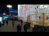 Предновогодняя Москва с высоты птичьего полета