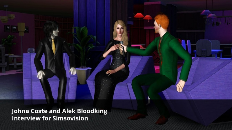 Johna Coste and Alek Bloodking Interview for Simsovision | The sims 3 machinima [RUS SUB]