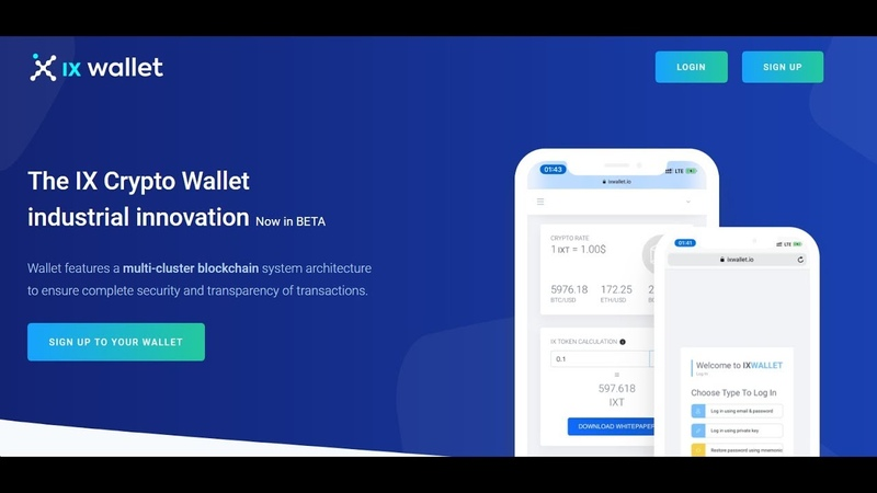 IX Wallet и IX Token - Новый криптокошелек Новая монета Часть 1