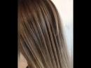 Шатуш Shatush растяжка цвета на тёмные волосы