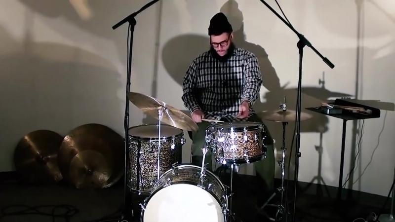 Steve Maxwell Vintage Drums - Rogers 20_12_16_5x14 Black Onyx