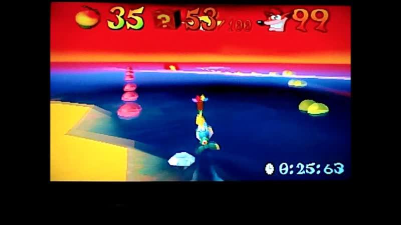 Crash Bandicoot 3: Warped (NTSC-J-version) Time Trial Ski Crazed .25:63.World record. Прорыв в Запредельн,безумие.