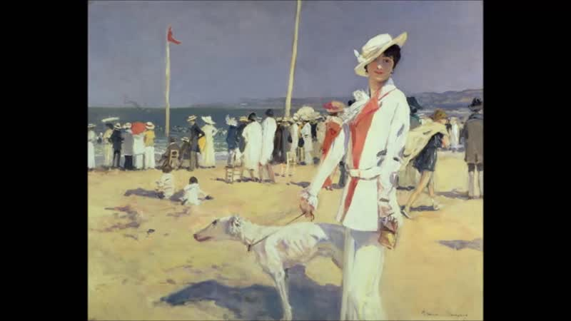 François Flameng (1856–1923) French painter ✽ Emperor Waltz Kaiserwalzer ( Manto