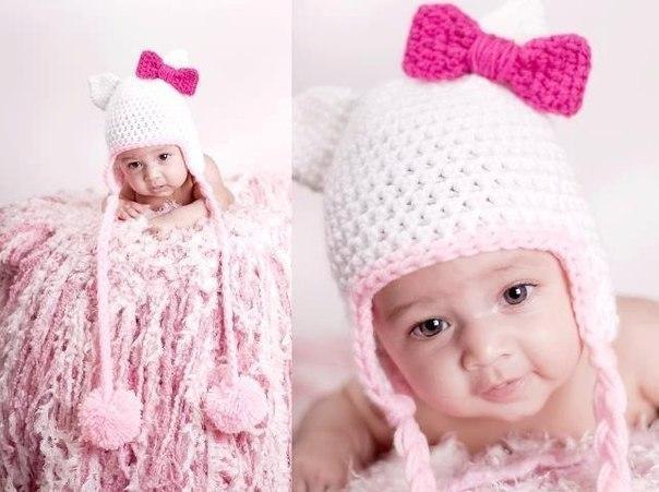 Детские шапки для девочек фото и схемы