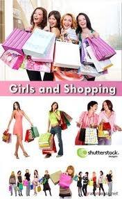 Девушки и шоппинг.  0. Растровые клипарты. xfvalue_text.  Язык: xfvalue_language.