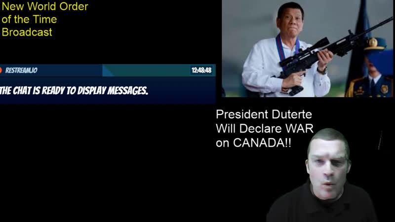 Filipino President Rodrigo Duterte Will Declare War On Canada