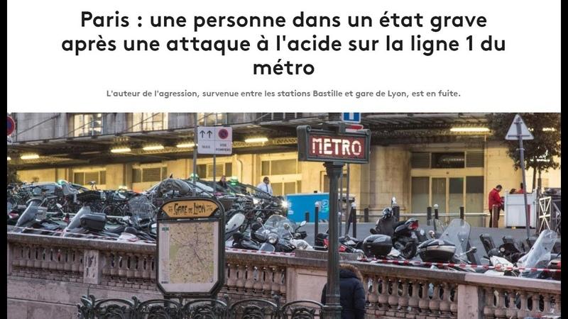 Schon wieder Säureangriff in Pariser Metro