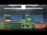 #PES2015- Brazil Germany New PS4 gameplay Goal Fernandinho