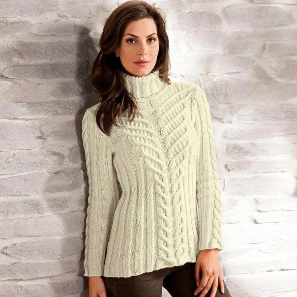 Пуловеры связанные поперек схемы