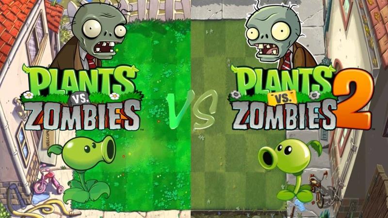 Plants Vs Zombies Vs Plants Vs Zombies 2 Grasswalk Mashup ☿ HD ☿