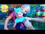 Doll Baby Born & Yaroslava on the shopping. Toys for children. Video for kids. Gift for doll