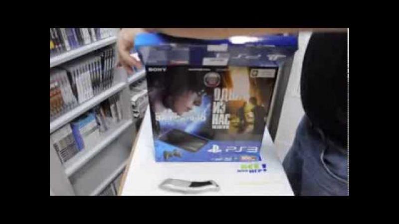 Распаковка Playstation 3 500 Gb плюс две игры Одни из нас и За гранью две души