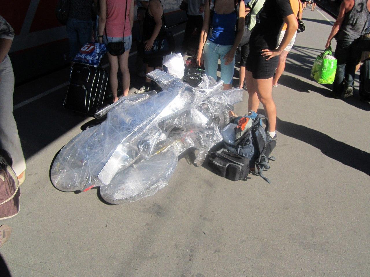 Как упаковать велосипед для перевоза в поезде
