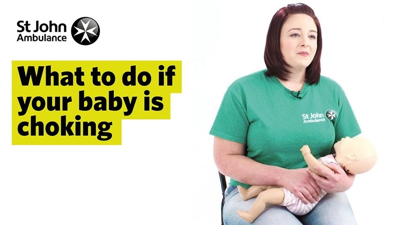 What to do if Your Baby is Choking First Aid Training St John Ambulance