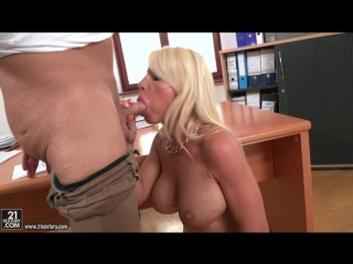 Tiffany Rousso (Blown By A Blonde) [Big Tits, Blonde, Blowjob, Deep Throat, MILF, Titfuck, Cum In Mouth, Office]