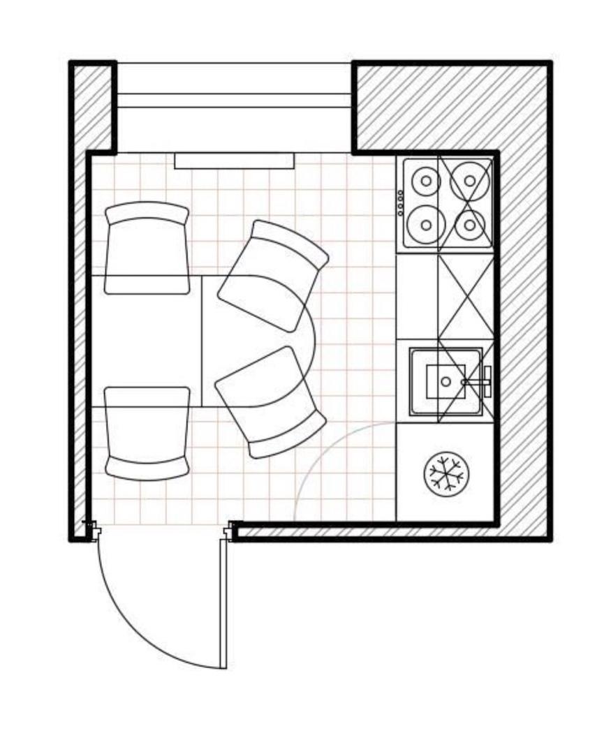 ️Решение для очень маленькой кухни 5,17 кв.