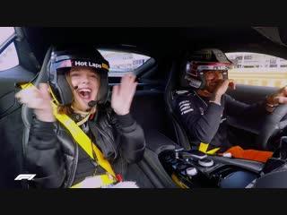 Millie bobby brown's bobbin' lap | f1 pirelli hot laps