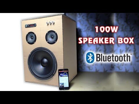 How to make 100W Bluetooth Speaker Box from Cardboard